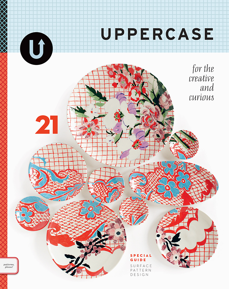 UPPERCASE issue 21, cover by Molly Hatch. (Low inventory left—order this back issue soon if you'd like it for your library.)