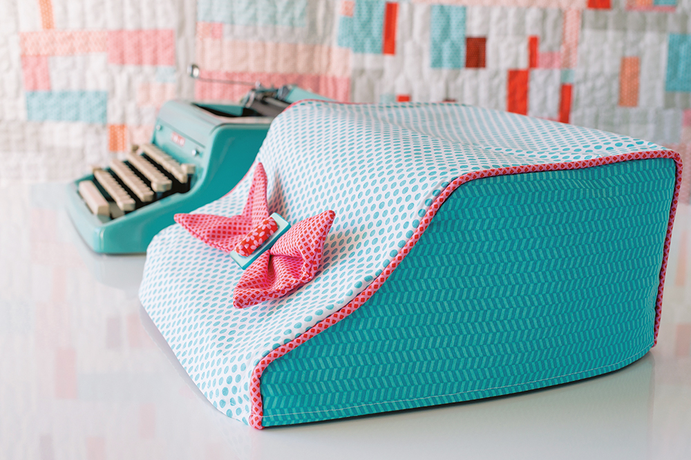 Make a fabric cover for your typewriter or sewing machine