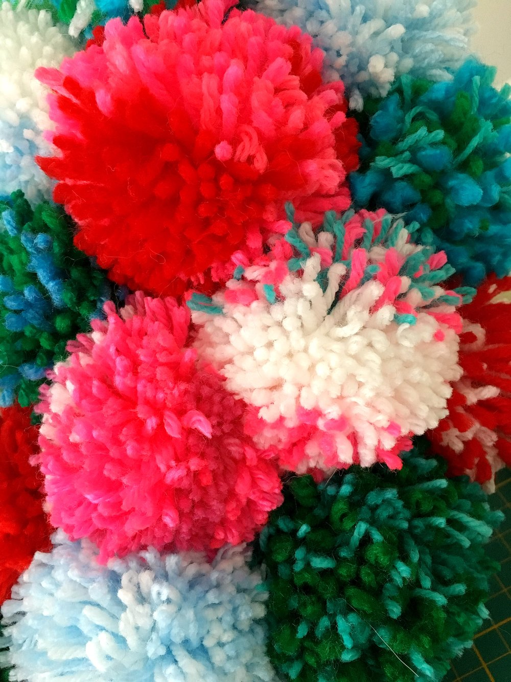 I ordered a Pom Maker tool and went a little overboard on making pom poms this Christmas!