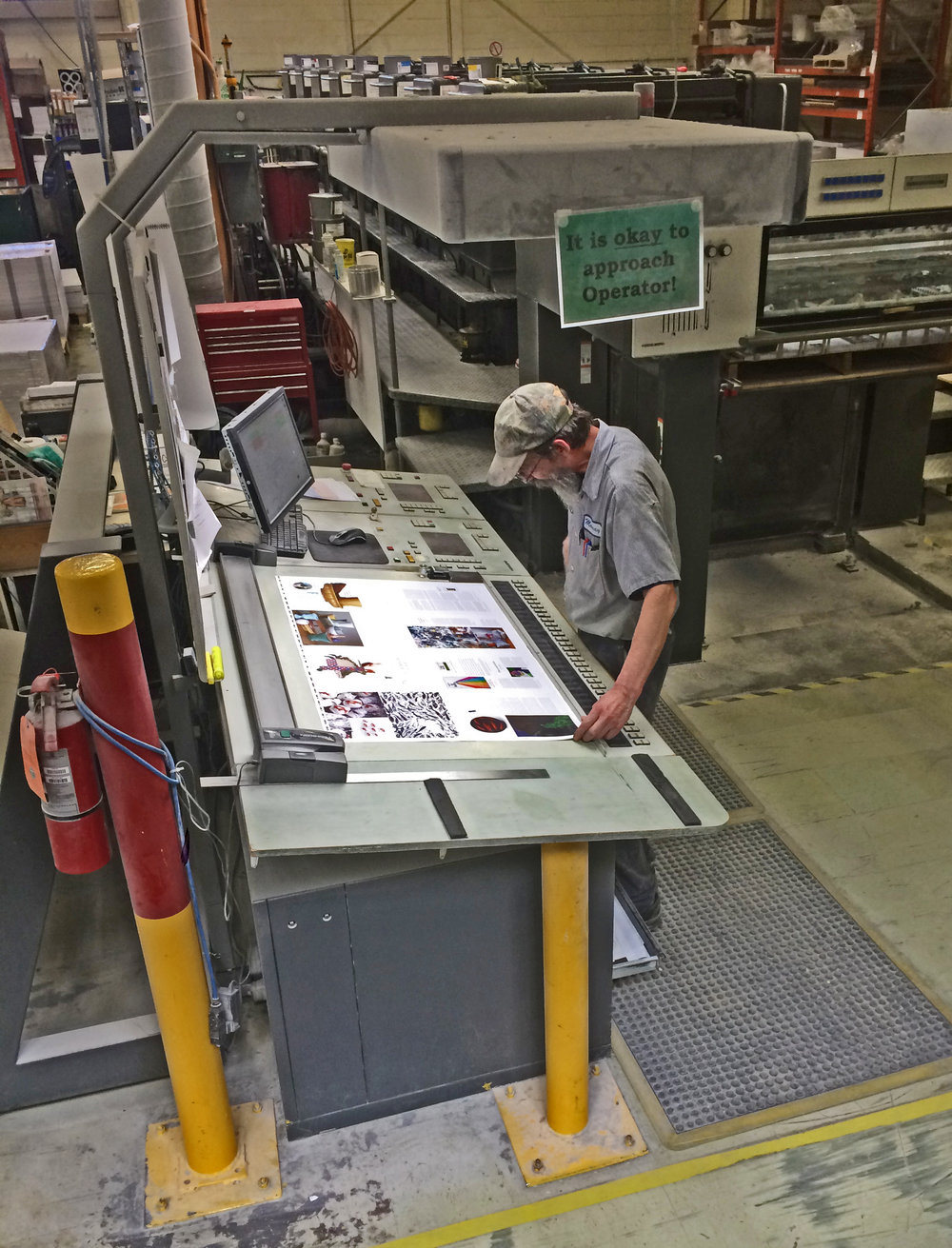 Issue 33 is being printed! Here's a shot from The Prolific Group in Winnipeg courtesy of Chris Young.