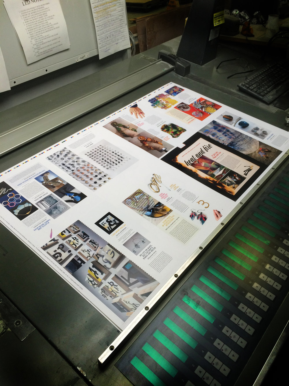 The reader submissions about plastic, resins and glossy things are printed on this coated paper section.