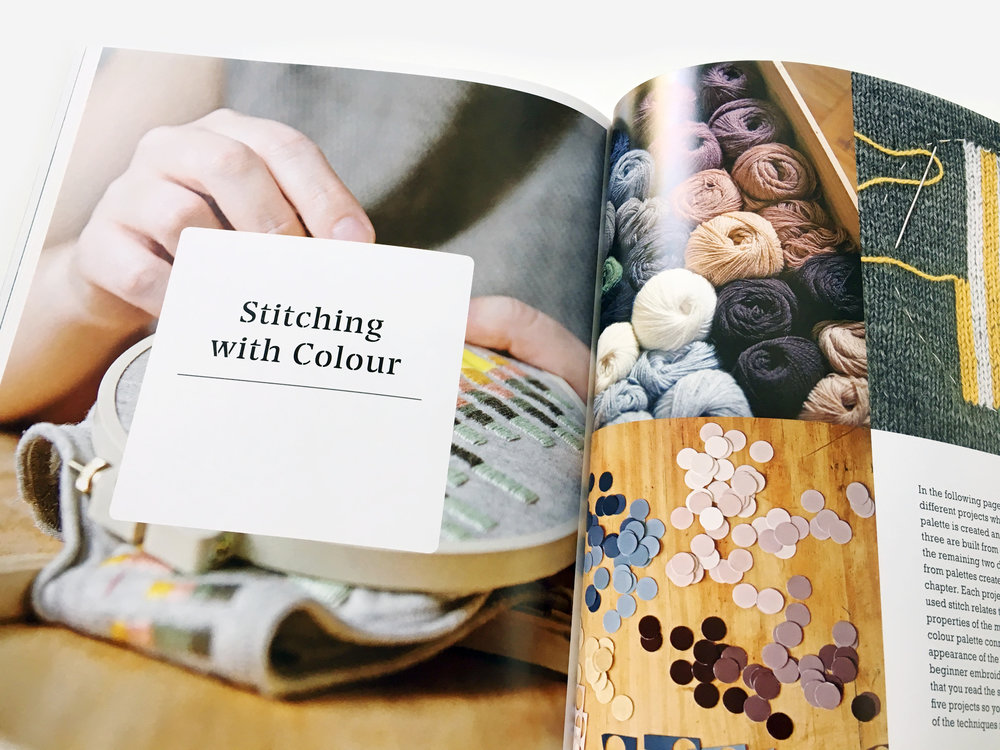 A spread from Colour Confident Stitching.