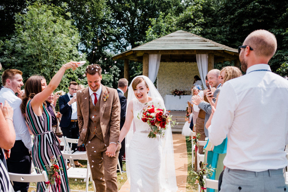 Becki + Lewis. Just Wed! That Amazing Place outdoor wedding venue.