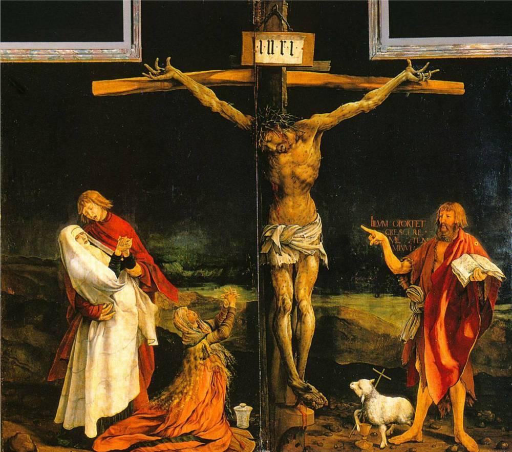 Matthias Grünewald's (1475-1528) Crucifixion