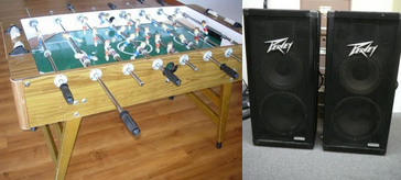 Foosball, Speakers, and More!