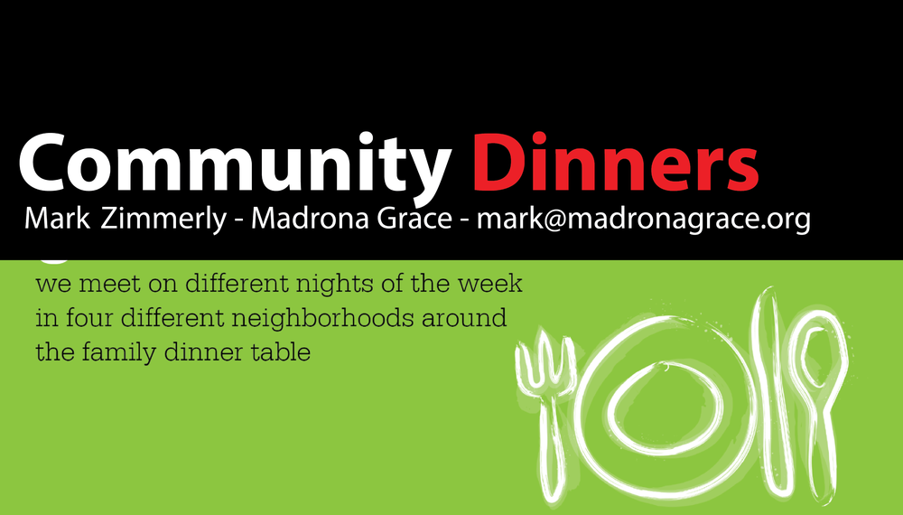 A non-denominational church on the north-end has developed an alternative model of worship centered around community dinners. They now have five successful gatherings, but plan on expanding to 27. Since we already have a presence in many of these neighborhoods, why don't we do this?  ( www.communitydinners.org )