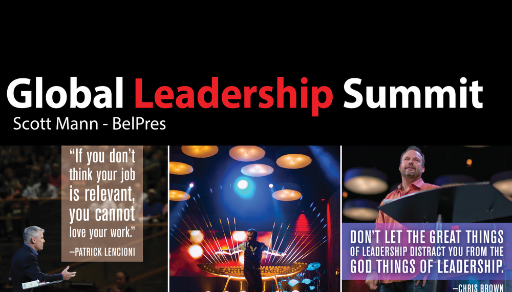 Bellevue First Pres is hosting the Willow Creek Association's annual 2 day Global Leadership Summit Aug 14-15. It is inspiring, practical and applicable for leaders in all spheres of life. Early registrants get better pricing and BelPres is offering free/reduced rate registration for various kinds of people (first timers, younger leaders, immigrant pastors & lay leaders, need based scholarships). Call BelPres for more info.
