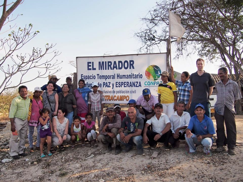 Visiting El Mirador in the community of El Tamarindo where land disputes have displaced over a hundred families.