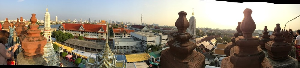 Panoramic view from top of Wat Arun