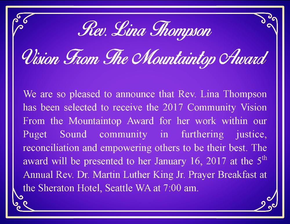 Congrats, Lina!