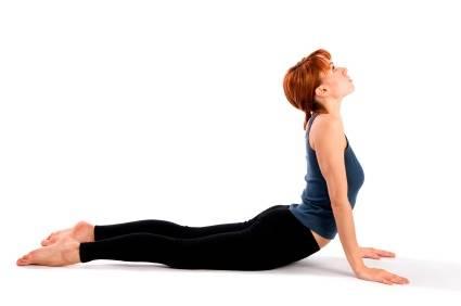 Woman Practising Yoga Asana
