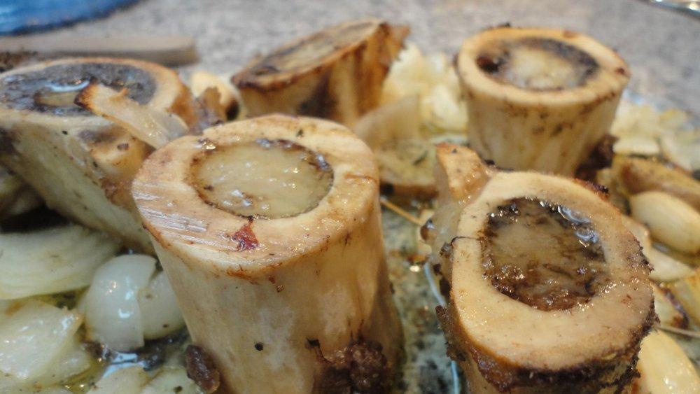Aspecto dos ossos após serem dourados no forno ou panela