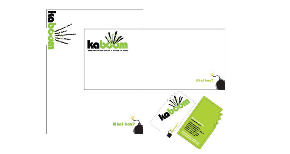 agency: Kaboom Marketing, company rebranding project