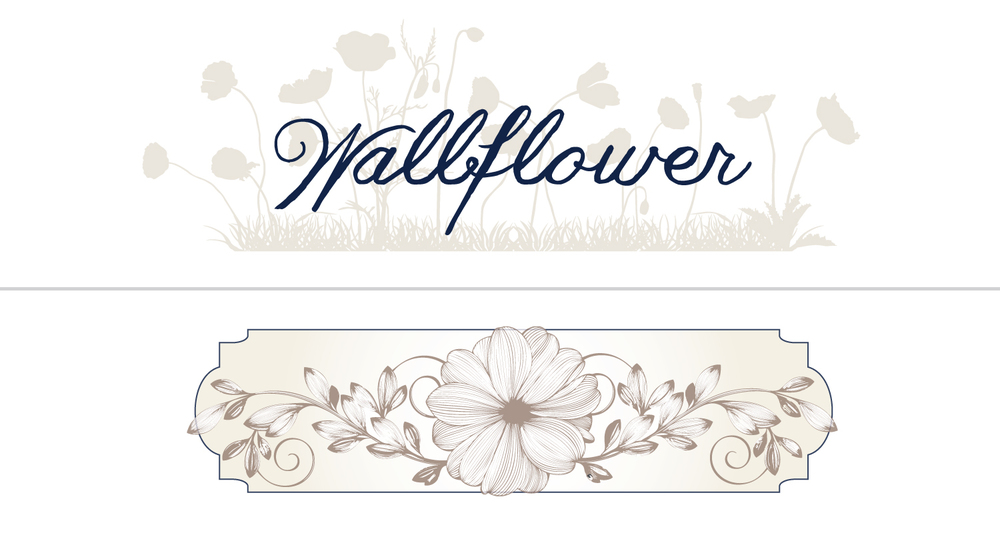 logo + icon for client: Wallflower Bar and Restaurant, NYC