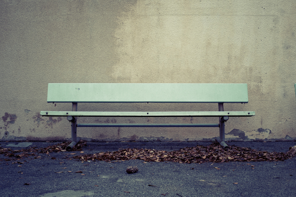 """What's more beautiful and simple than a bench? This belongs with the image above. And, if you noticed, the three last images in this blog entry are all processed the same way, using a faded """"Polaroid"""" look - these images ultimately might find there way into a new portfolio. Stay tuned."""