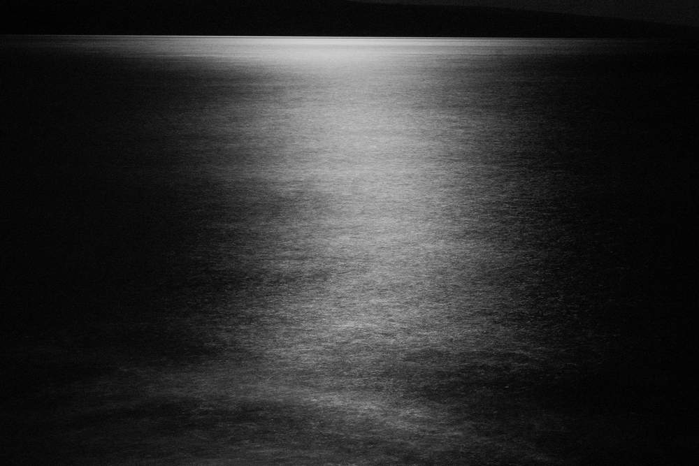 Maui Water in Moonlight 1, 60mm, 30 seconds at f/16. ISO 6400.
