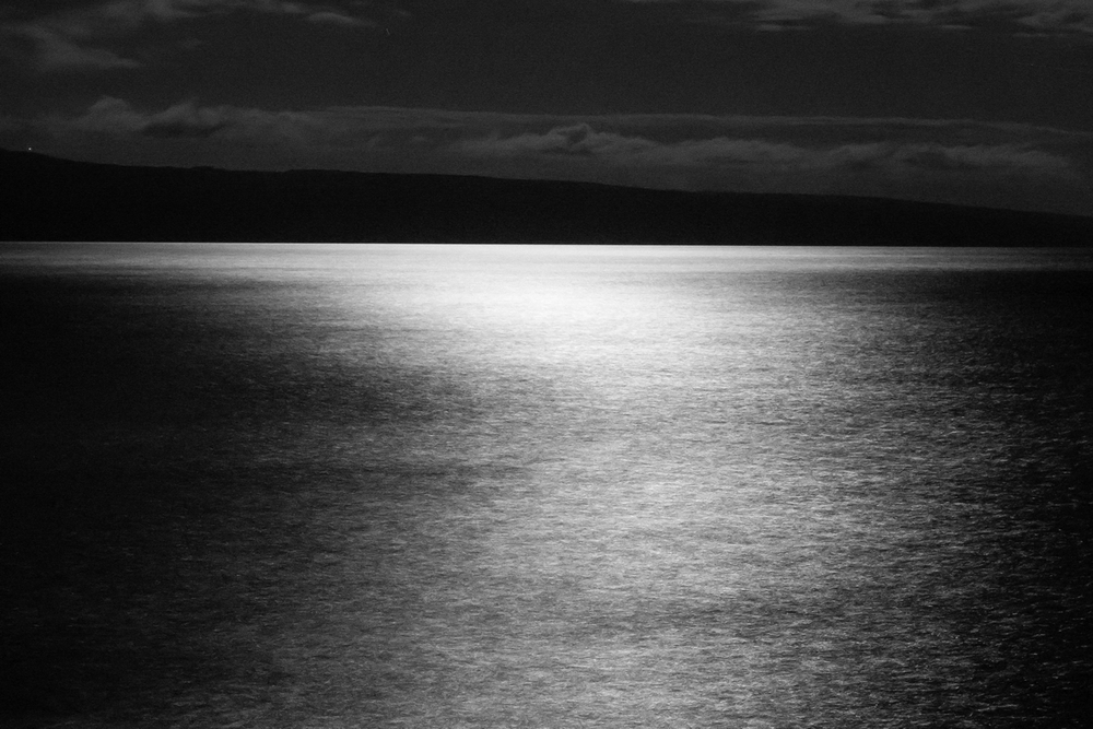 Maui Water in Moonlight 2, 60mm, 30 seconds at f/14. ISO 6400.