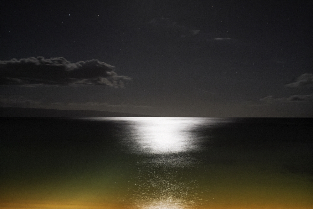 Maui Water in Moonlight 4, 35mm, 30 seconds at f/8. ISO 6400.