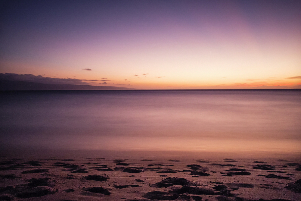 Maui Sunset 2, 18mm, 125 seconds at f/8. ISO 1600.