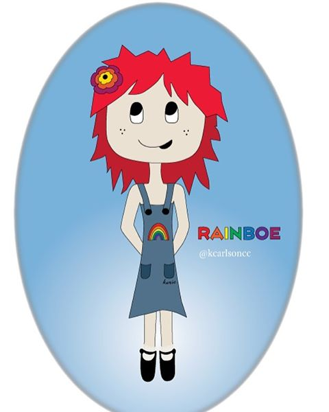 everyone needs a rainboe the girl who is always smiling, always shining she loves life and life loves her back  #illustration #art #drawing #digitalillustration #digitalart #vector #vectorart #vectorillustration #vectorartist #sketch #characterdesign #illustrator