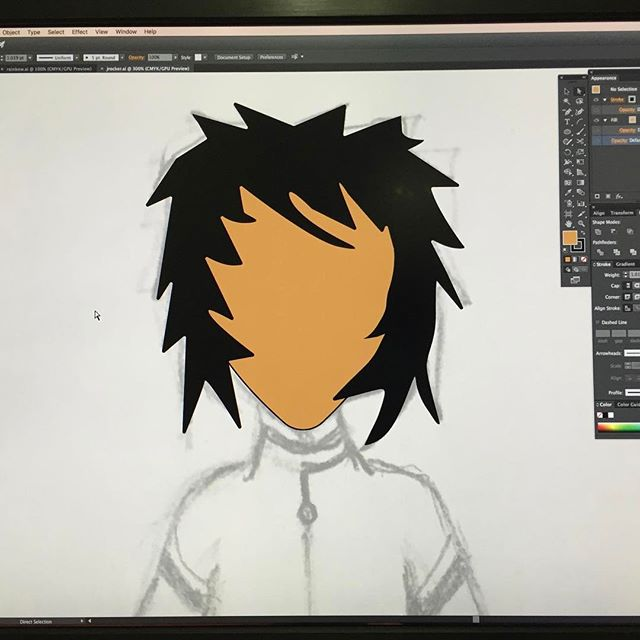 JRocker gonna finally get this guy going #vectorartist #vectorart #vectorillustration #adobeillustrator #illustrator #drawing #characterdesign