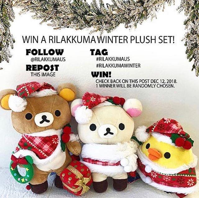 Holiday giveaway! 🙏🧸🎄#rilakkumaus #rilakkumawinter
