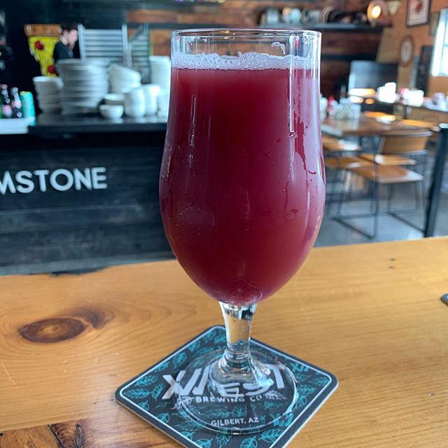 You're a Blackberry, Violet! Amazing blackberry hazy pale ale on tap @12westbrewing #craftbeerlover #hazydayz #gilbertaz #shoplocalgilbert #localbrew
