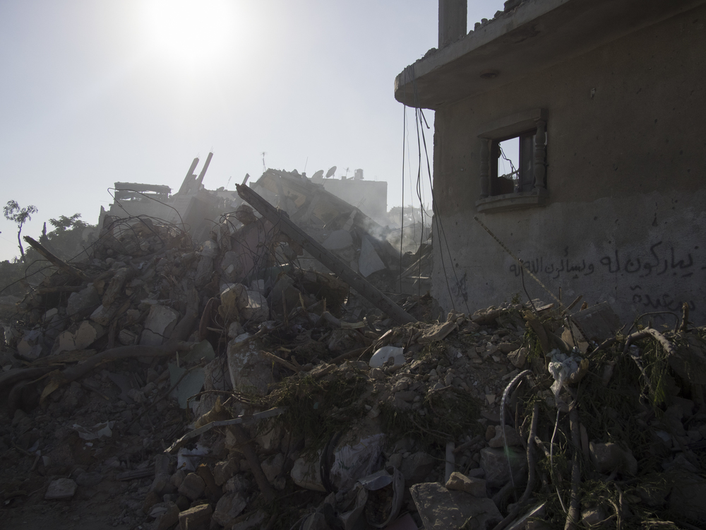 The destroyed neighborhood of Beith-Hanoun, July 26, 2014.
