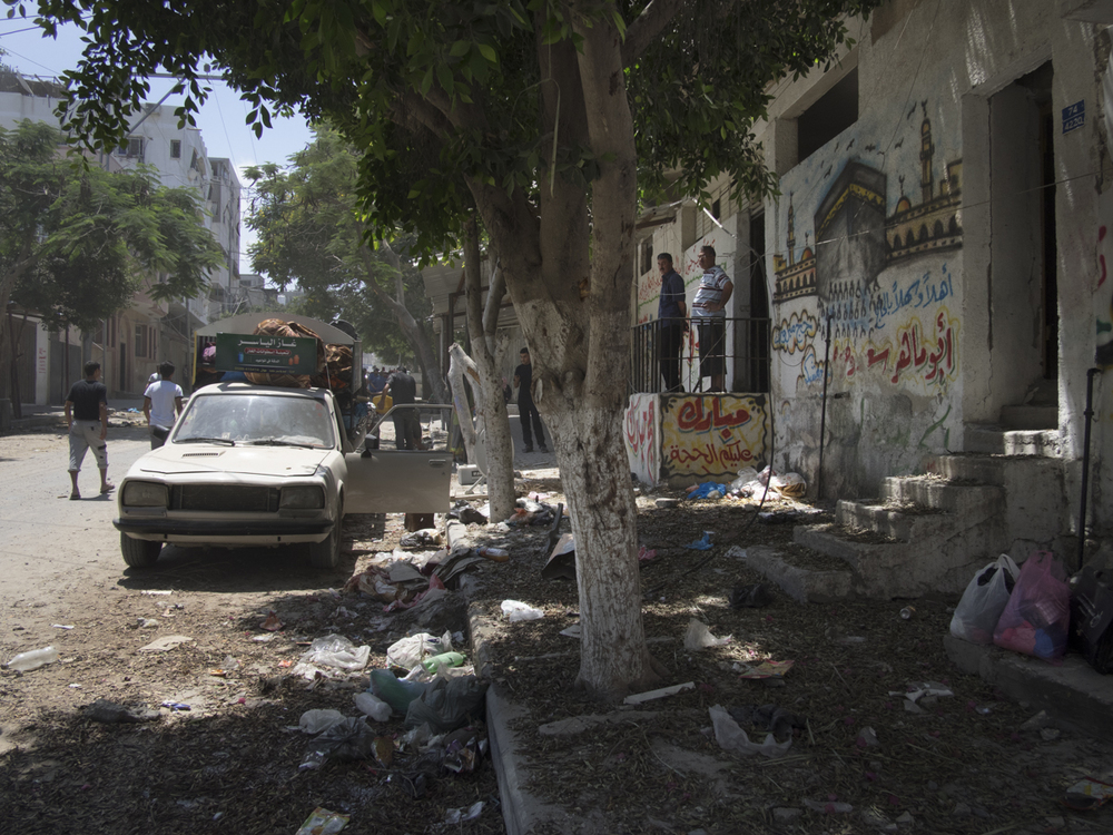 A street of  Shuja'iyya during a ceasefire, Gaza City, July 26, 2014.