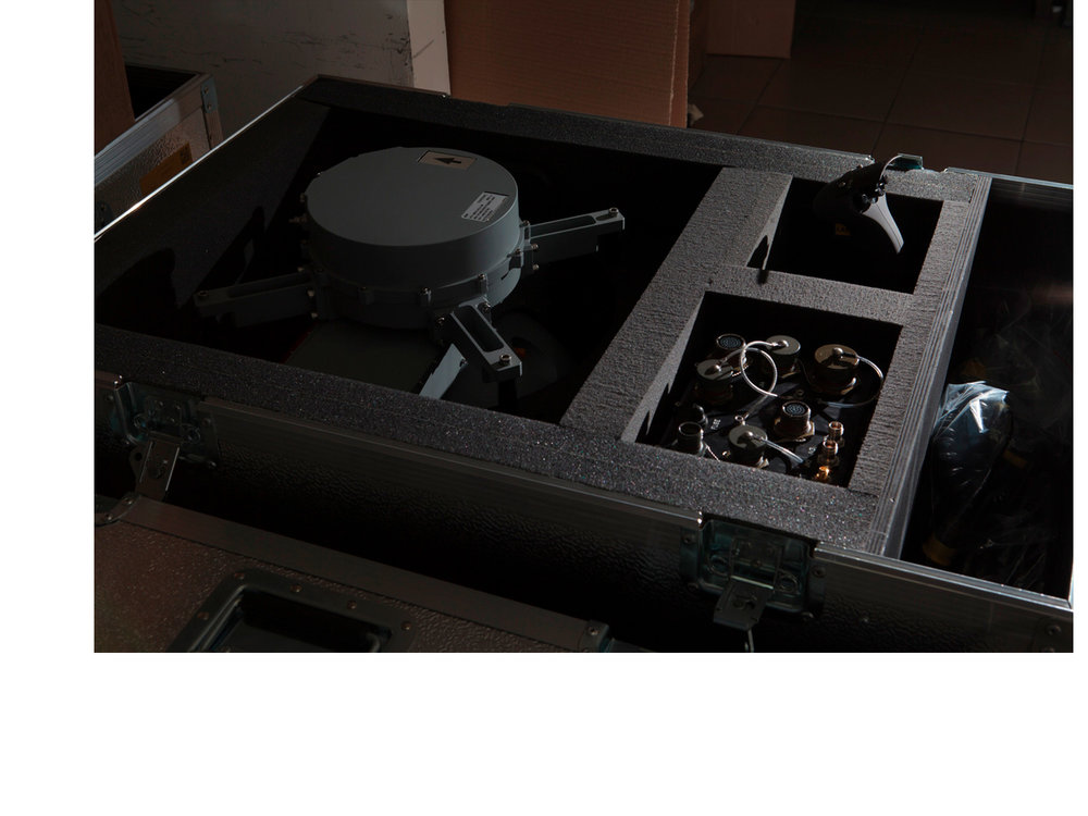 Near Petah-Tikva, Israel -  An optical payload inside of a shipping case at the Controp factory.