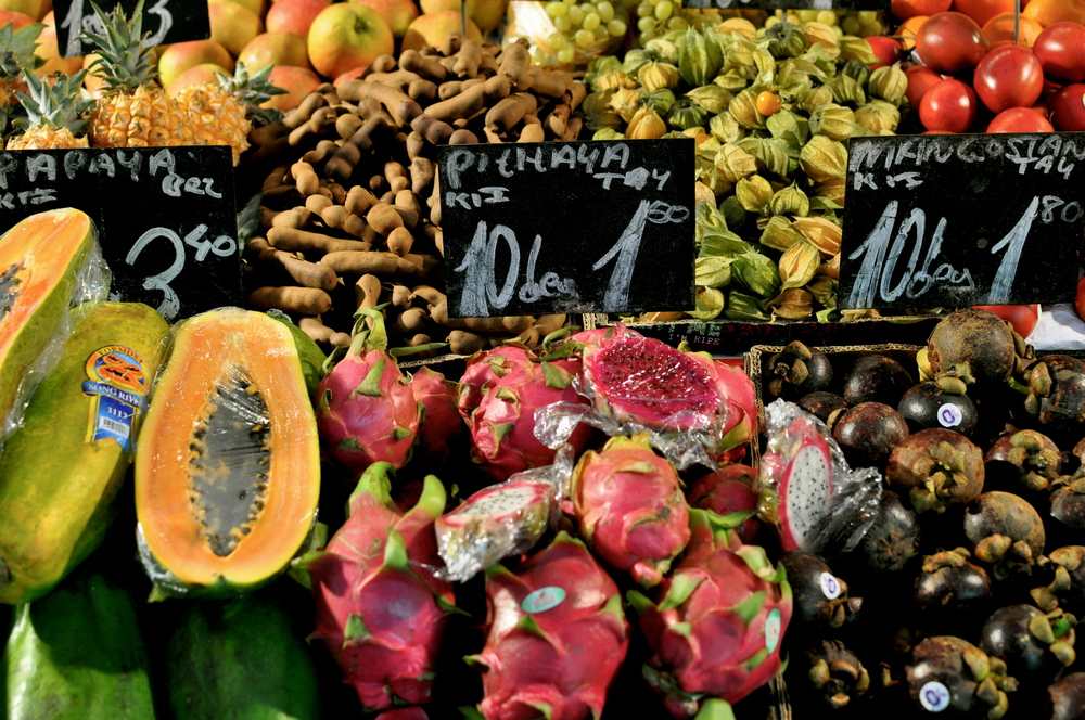 Naschmarket fruit stalls.