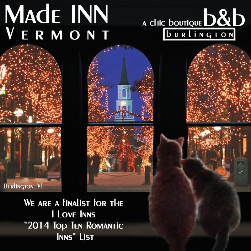 2014 Top Romantic Inn Burlington, Vermont.by I Love Inns. Start your Romance now!