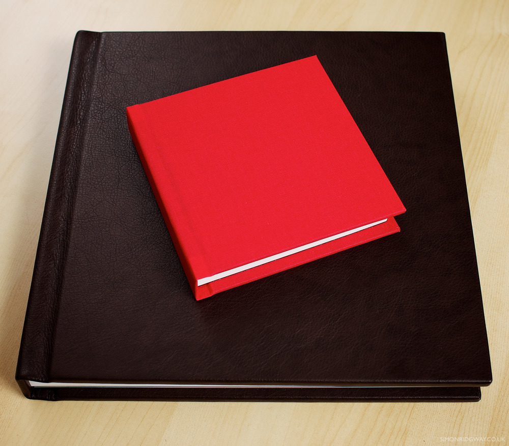 "12x12"" leather album with 6x6"" cotton copy album"