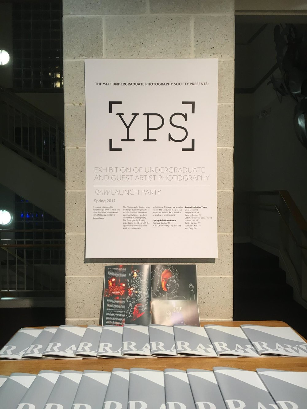 The exhibition. Photos courtesy Yale Photography Society.