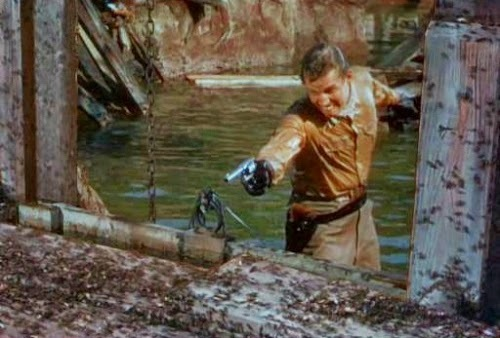 Is Charlton Heston .... trying to shoot ants with a gun?