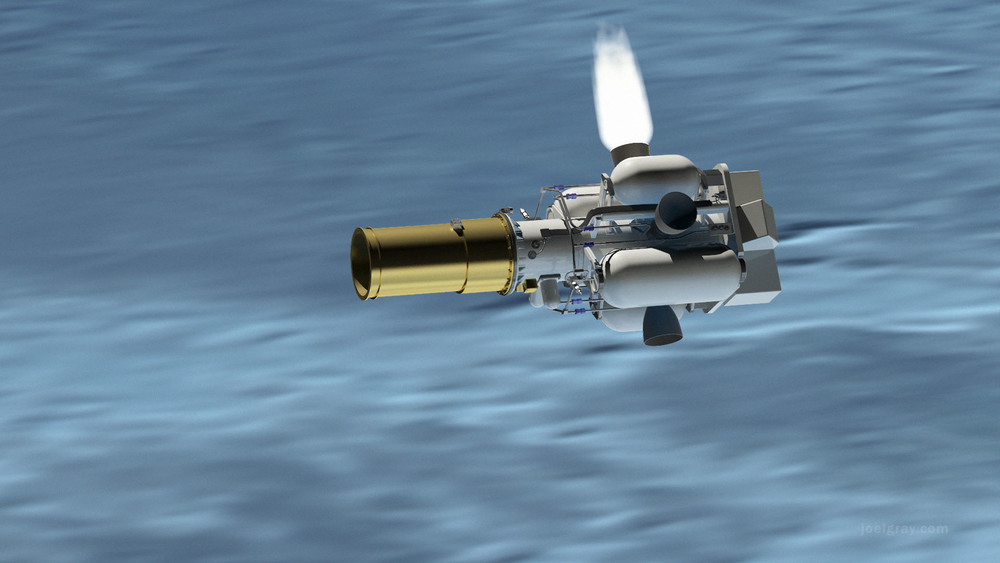 Frame from a launch animation.  (select image to enlarge)