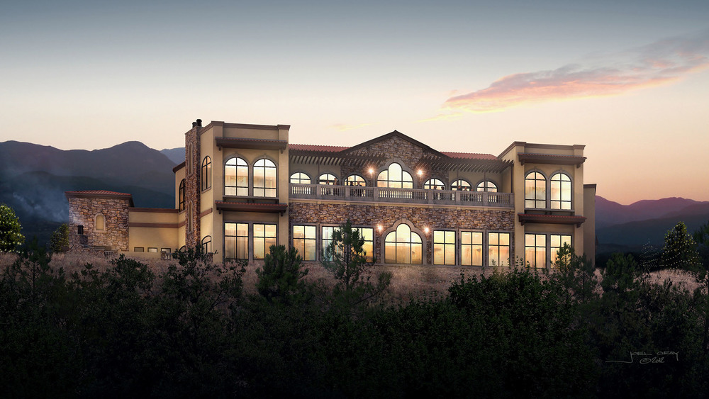 The Pinery at the Hill- 3D Rendering (East facing facade)