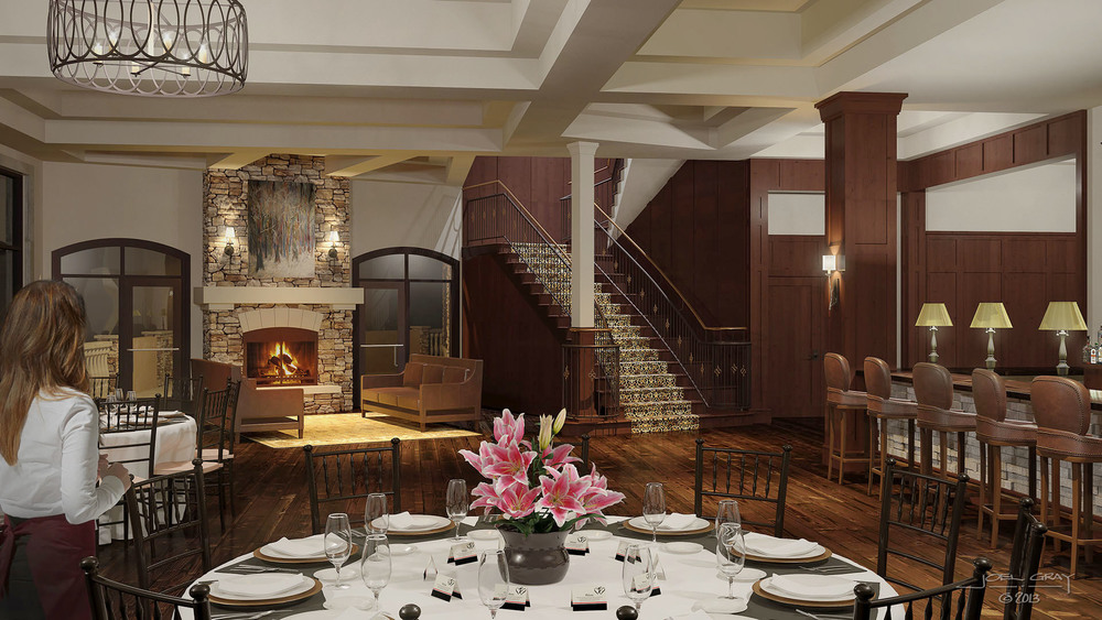 The Pinery at the Hill - Interior 3D Rendering
