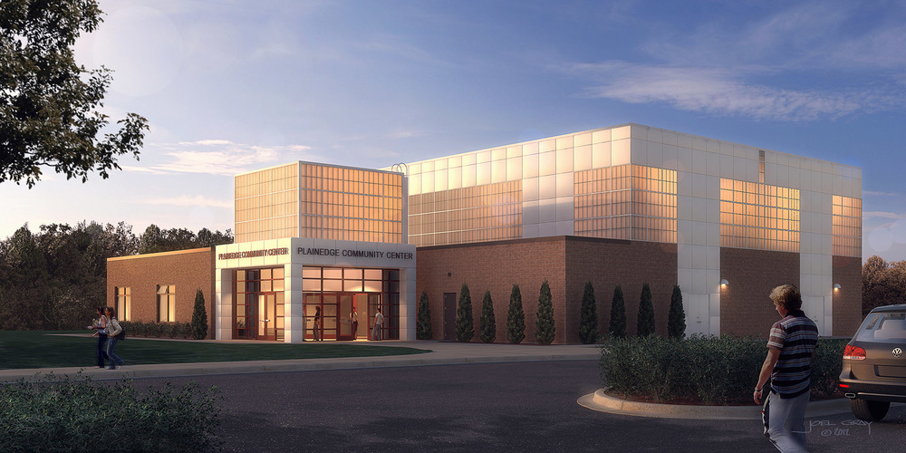 Plainedge Athletic and Community Center - Digital Rendering by Joel Gray