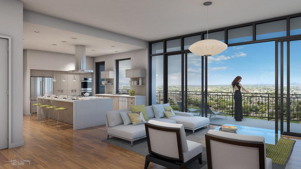 Project: Portland on the Park - Loft Interior Client: DAVIS