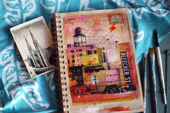 Ramona,6x8 mixed media on paper