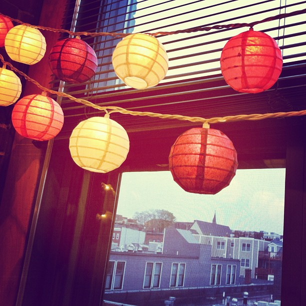 We had a few chilly days this week... I love these lanterns warming up my studio.