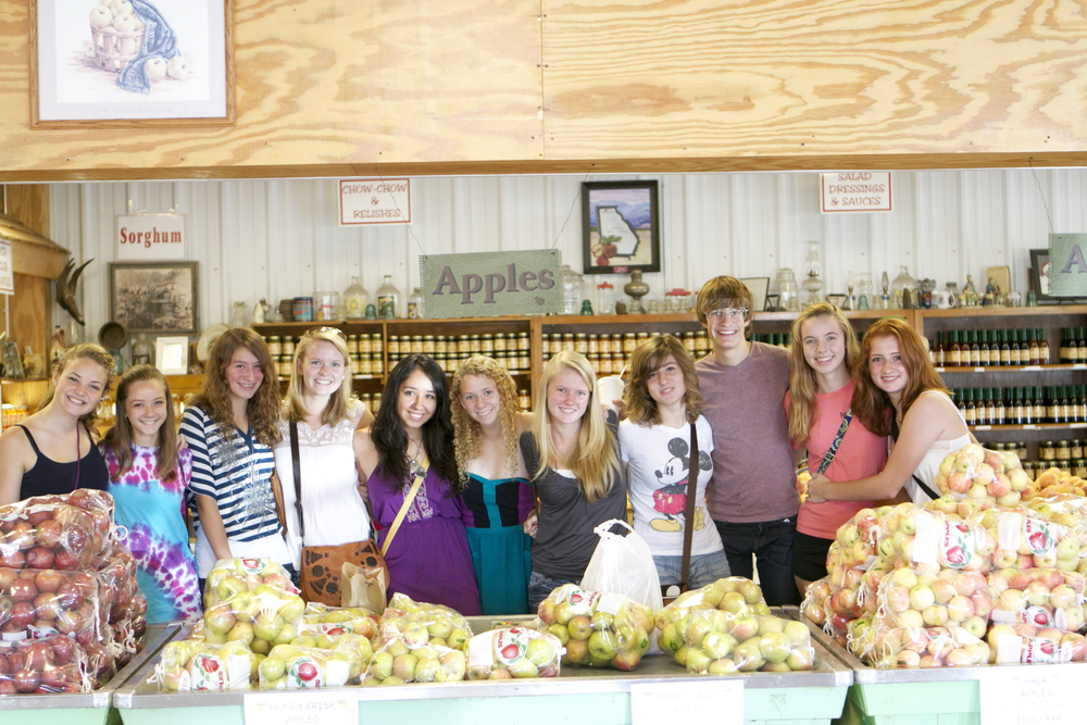 a trip to the orchard market.