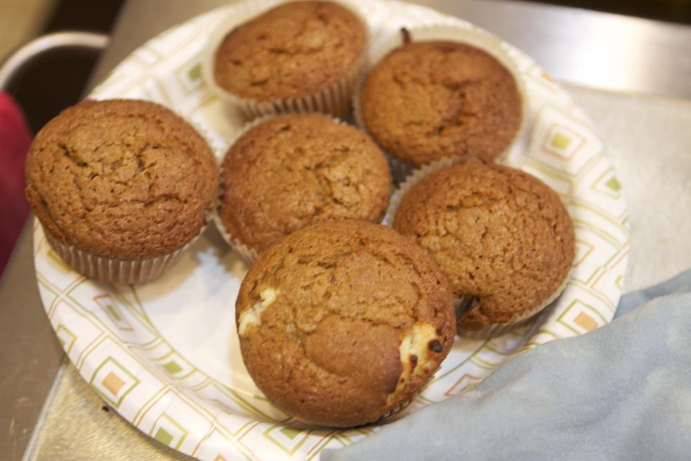pumpkin cream cheese muffins...