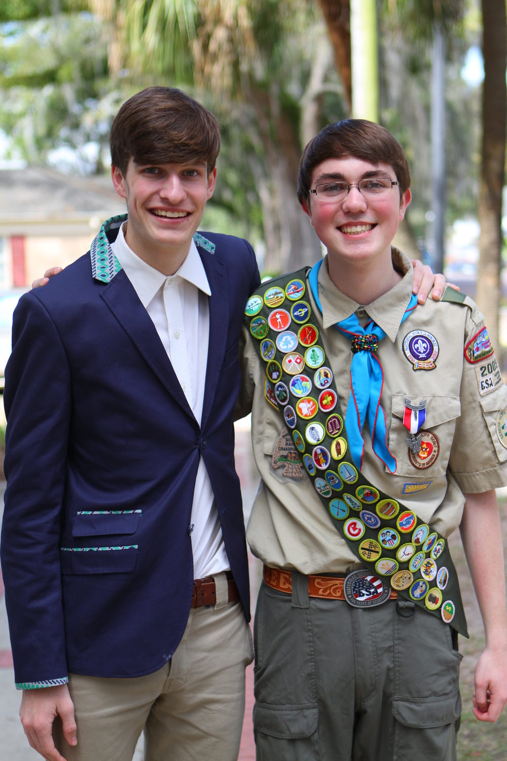 """it's not everyday you see your son's best childhood friend/former neighbor/cub scout pal become an eagle scout ."""