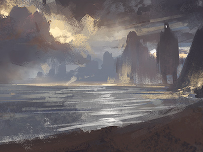 Day At The Beach Sketch by Noah Bradley