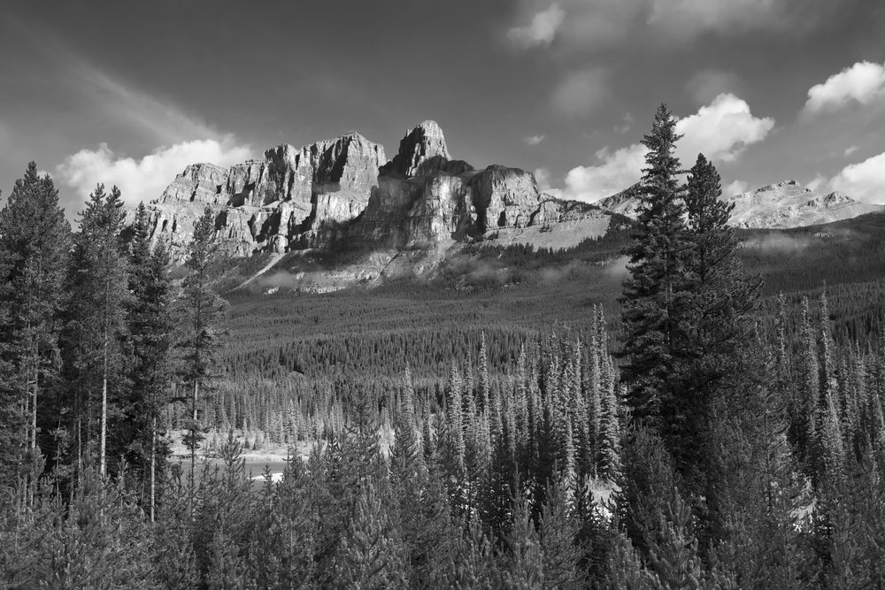 Castle Mountain - Icefields Highway towards Jasper, Canada - 2015
