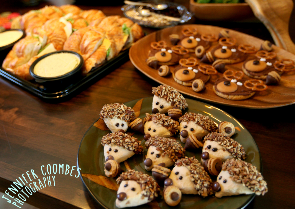 Host Whitney Reeter chose a child-friendly woodland animal theme for the guest snacks.