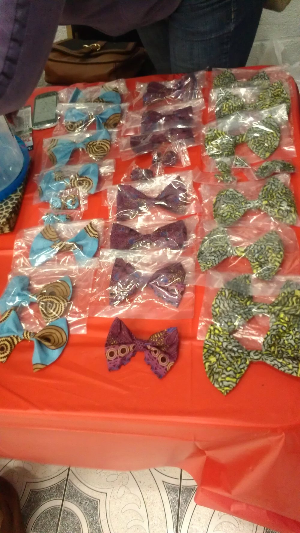 Some of the products on her vendor table