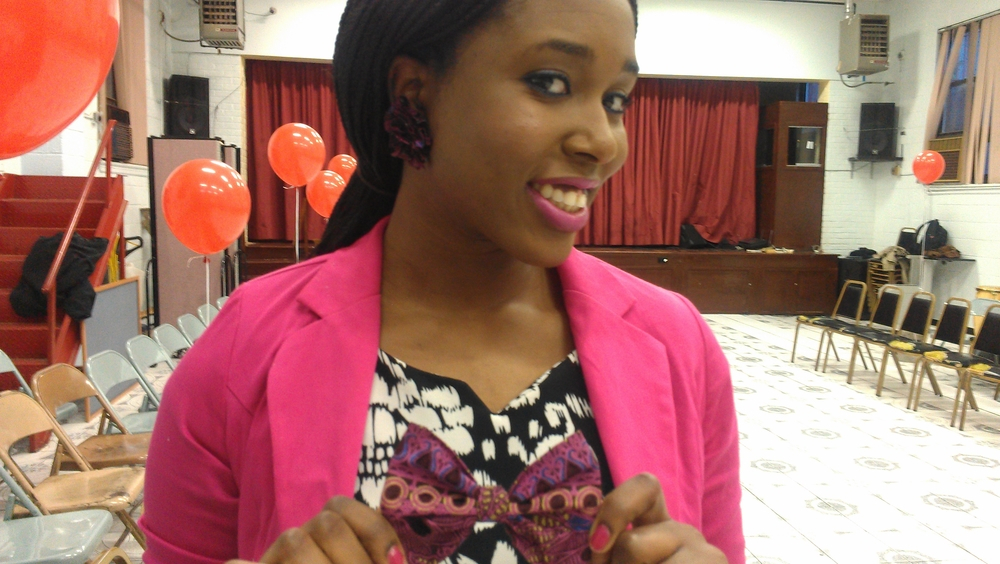 Me with the products that I bought! #earrings #bowtie They spice up just about any outfit!